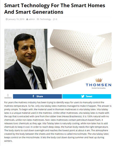 Thomsen Featured in Smart Technology for the Smart Homes