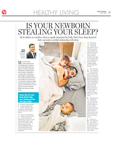 Is your newborn stealing your sleep is featured in healthy living in june 2019